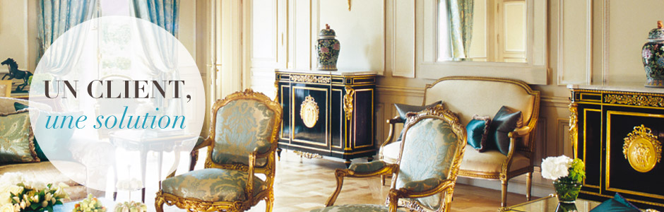 Suite royale à l'hôtel Le Meurice à Paris - Unique Experiences / Luxury Hotels Consulting